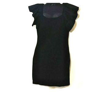 Nwt Sugarlips Black Ruffle Dress